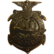Vintage WWI Era War Service Ship Building Pin #160521