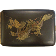Vintage Japanese Dragon Damascene Compact