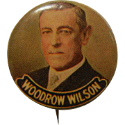 Vintage Woodrow Wilson Color Campaign Pin back Button