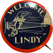 "Vintage Spirit of St. Louis Pin - ""Welcome 'Lindy'"""