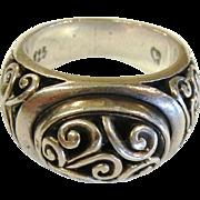 Embellished Sterling Silver Ring - Size: 8