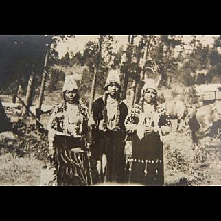 Vintage Original B&W Photo Postcard - Simnasho, July 4, 1921