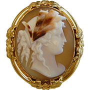 Fine Old Hand Carved Natural Shell Cameo
