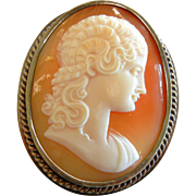 Fine Hand Carved Cameo Brooch