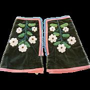 Vintage Native American Floral Beaded Gauntlets