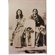 Vintage B&W Photograph of Ute Indian Family by Rose & Hopkins Studio