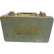 Vintage Military First Aid Metal Box by Bell System-D