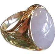 Vintage 14 K Yellow Gold Ring w/ Lavender Jade