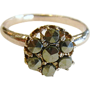 Fine Old Marcasite & Silver Ring - Size: 5.25