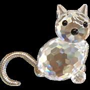 "Swarovski Crystal Cat - 1-1/4"""