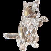 "Swarovski Standing Cat  Crystal Glass- 1-1/4"""