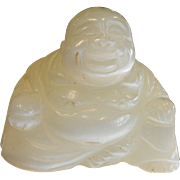 Carved Natural Selenite Buddha