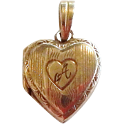Vintage 10K Gold Doll Size Heart Locket