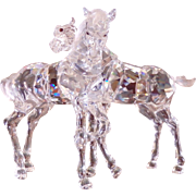 Fine SWAROVSKI Crystal Horses - Foals Playing