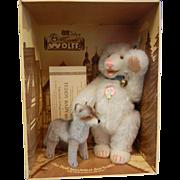 Vintage 1988 Steiff Replica Teddy Baby & Wolf