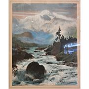 Old Sydney Laurence Framed Print - Mountains & River