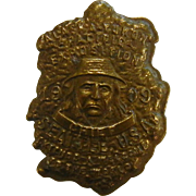 Old 1909 Pollock & Sons Alaska Gold Nugget Medallion - Alaska Yukon Pacific Exposition Chief Seattle