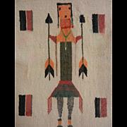 Vintage Native American Multi Color Hand Woven Textile