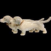 Vintage German Two Porcelain Wiener Dog Figurine