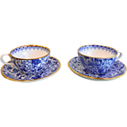Set of 2 Vintage Spode Copeland's English China Miniature Teacup/Saucers
