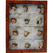 "Rare Set of 12 Royal Doulton ""The Twelve Tinies"" Toby Character Jugs"
