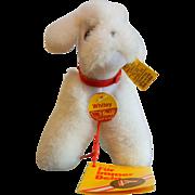Vintage Steiff Stuffed Animal - Whitey the Poodle 1533/12