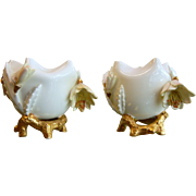 Pair of Antique Moore Brothers Porcelain Vases