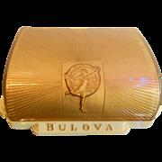 Vintage Gold Tone Deco Bulova Watch Box
