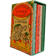 Vintage 1963 Christmas Nutshell Library Miniature Book Set