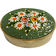 Vintage Micro Mosaic Compact Container