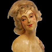 Art Deco Bisque Half Doll Torso and Arms