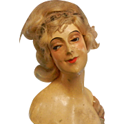 Art Deco Bisque Half Doll Torso and Arms