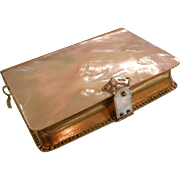 Gorgeous Antique German 1899 Gilt Mother of Pearl Palmgartlein Prayer Book