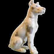Vintage Danish Porcelain Dog  Great Dane Figurine