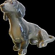 Vintage Signed German Porcelain Dog Dachsen Figurine