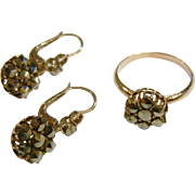 Antique Marcasite Ring & Earrings Set