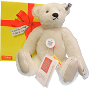 Vintage 1985 Steiff Original Collector's Teddy Bear White 0158/31