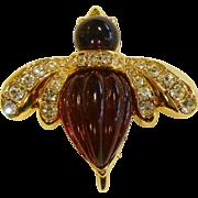 Vintage Rhinestone Bug Pin