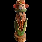 Vintage Signed Hand Carved Wooden Hopi 'Corn Boy' Kachina