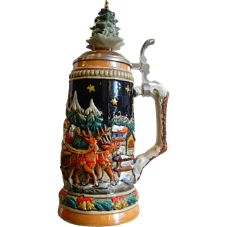 Vintage Zoller & Born Limited Edition Christmas Beer Stein 442/5000 Made in Germany