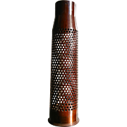 Vintage Trench Art 75mm Bullet Shell w/ Drilled Holes
