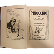 "Vintage 1939 Book ""Pinocchio"" by C. Collodi"