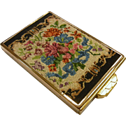 Vintage Floral Petite  Point Volupte Makeup Compact