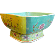 Vintage Chinese Enameled Porcelain Bowl