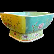 Vintage Chinese Enameled Porcelain Bowl