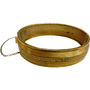 Vintage Gold Filled Hinged Bracelet