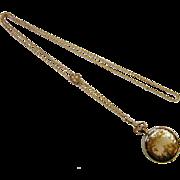Vintage Ornate Ladies Hampden Gold Filled Pocket Watch