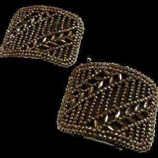 Vintage Old 1910 Steel Bead Shoe Clips