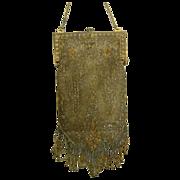 Beautiful Antique Beaded Handbag w/ Flower Basket Charm
