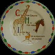 Cute Vintage ABC Children's Plate